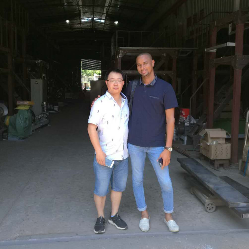 Welcome Angola customer to our factory for cooperation and negotiation